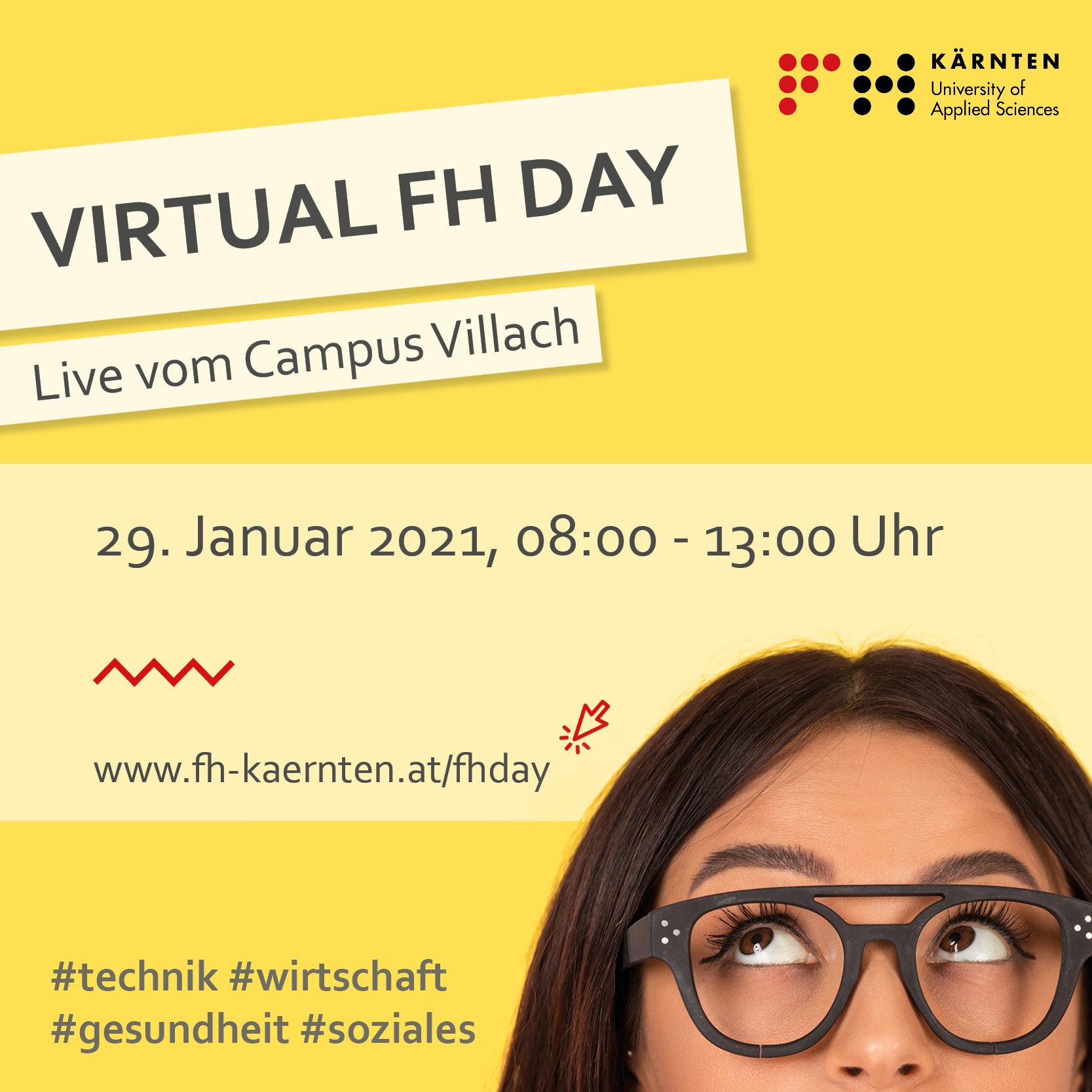 Informier dich beim Virtual FH Day über das FH Kärnten Studienangebot