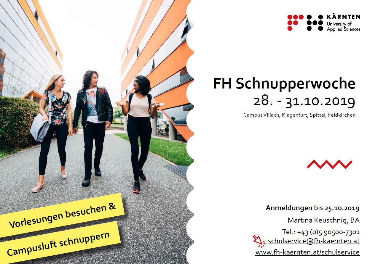 FH Kärnten Schnupperwoche – so fühlt sich Studieren an!