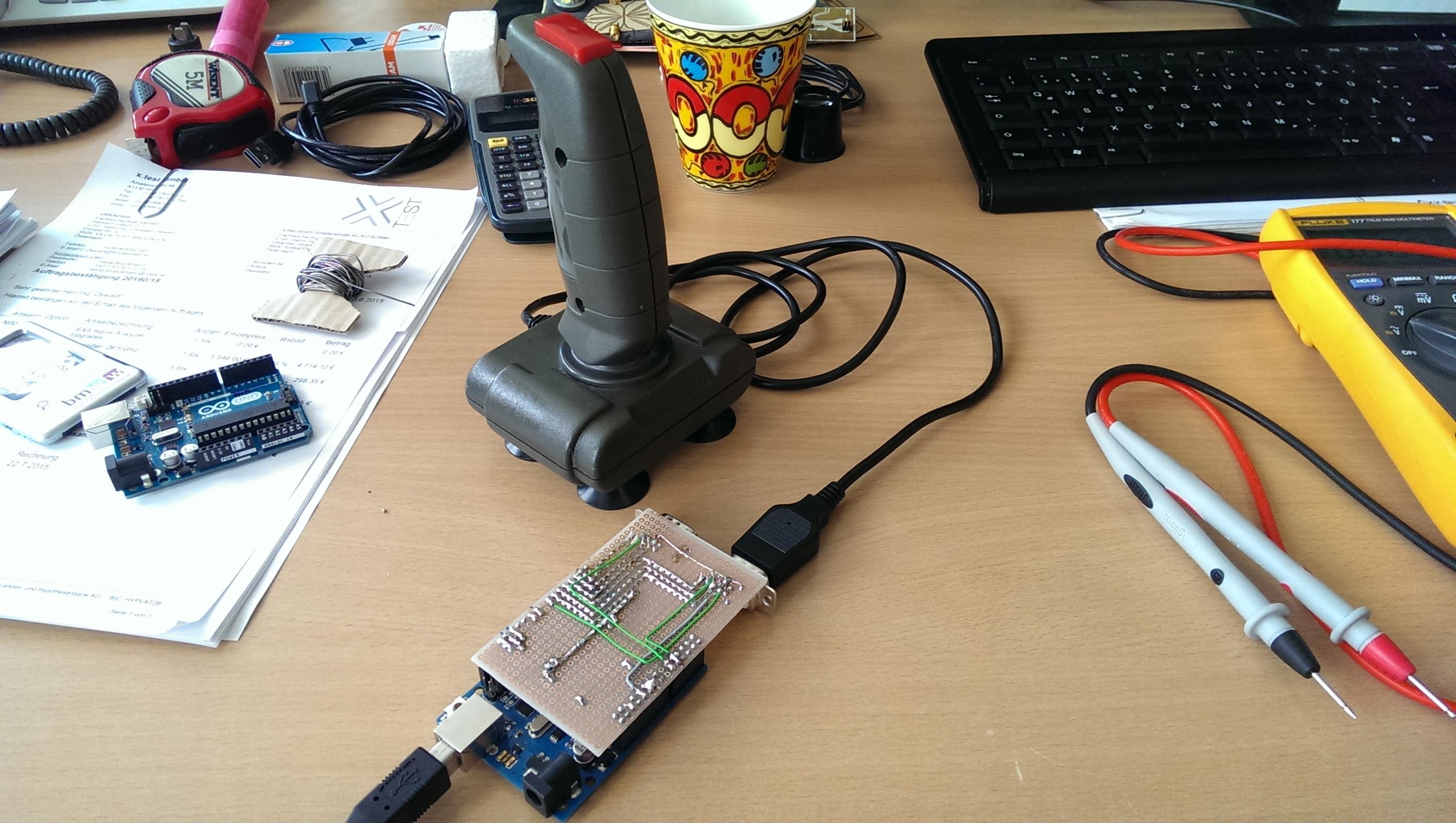 Arduino als usb joystick ingmar s retro