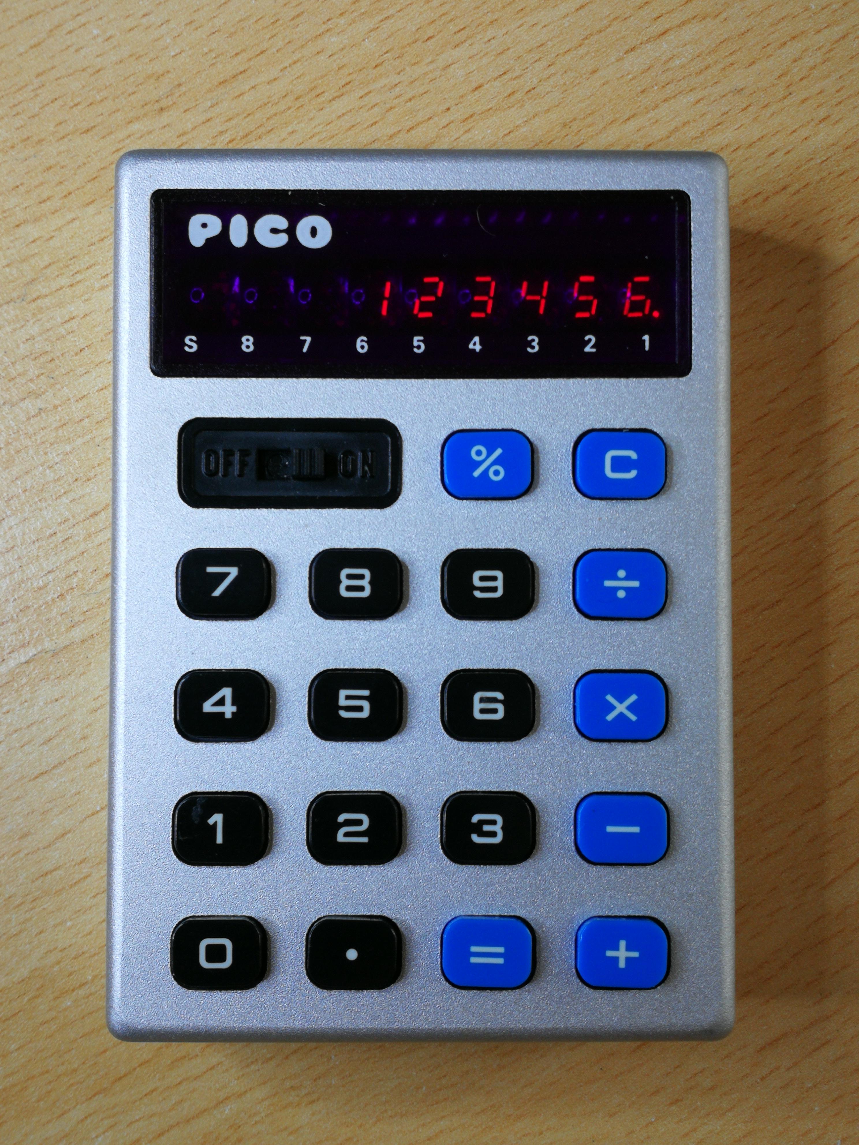 Pico Taschenrechner Ingmars Retroblog