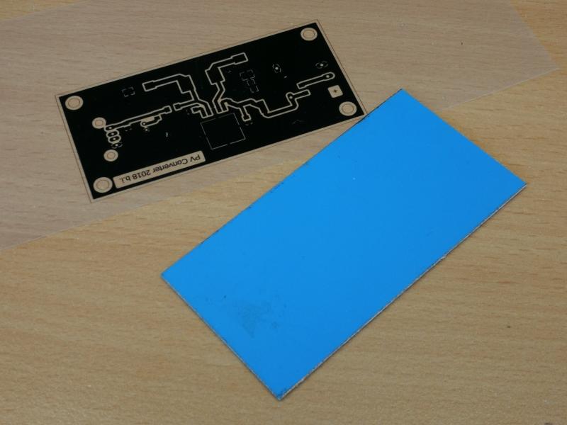 Folie zum Erstellen der Printplatte