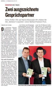 Kleine Zeitung vom 15. Februar 2016, Seite 14